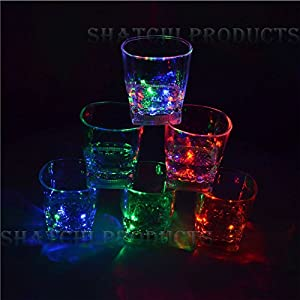 Gifts 4 All Occasions Limited SHATCHI-705-6 copas de vino con luz LED intermitente Shatchi para Halloween, despedidas de soltera, multicolor