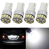 Amazenar - Pack de 4 luces led 194 168 921, de 5ª generación, 240 lúmenes, luz blanca led, 12-14 V, para interior y exterior, T10, T15, 18SMD 3014, recambio para 912 2825, múltiples usos