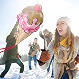 Sweet Ice Cream Kite for Kids - Launches At The Slightest Breeze - Best for Beach Games - Highly Durable - Free String, Spool and eBook - Easy Flyer With Lifetime Warranty