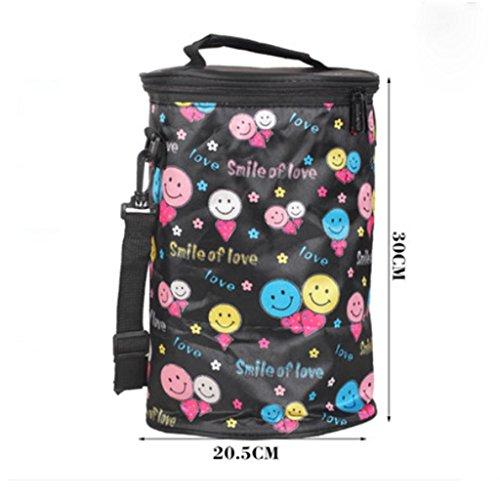 MOXIN bag lunch box sacchetto isolato borsa secchiello per pic-nic viaggio , big: red size: smiley face