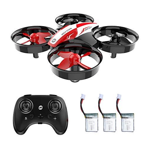 Holy Stone Mini Drones para niños RC Nano Quadcopter HS210 Dron NO Camera Regalos y Principiantes Pequeño Dron de Helicóptero RC Teledirigidos, Modo sin Cabeza,Rotación de 360 con 3 Baterías Juguetes