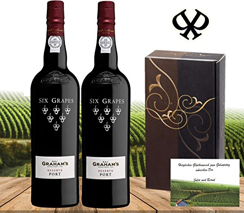 100% Portwein | GRAHAM's Six Grapes 2er Geschenk Set | derbessere LBV Late Bottled Vintage, ähnlich...