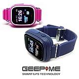 GeepMe GP2 Smartwatch (dunkelblau)-kindgerechte GPS Kinderuhr,Tracking,Geofence,SOS Notruf,Telefon,GPS/WLAN/LBS,dt. kostenlose APP/Service,Touch Screen,Sicherheit für Ihr Kind, (OHNE Abhörfunktion)