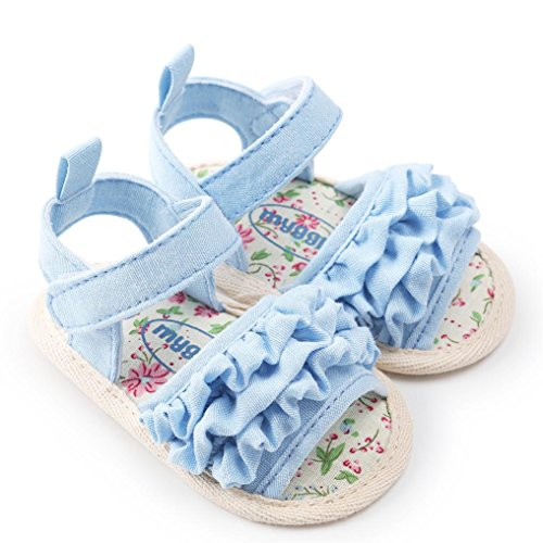 ❤️Sandales Files Bébé Fleur Sandales Chaussures Décontractée Chaussures Sneaker Anti-Dérapant Sandales Files Semelle Souple Toddler Sandales Files Chaussures pour 0-18 Mios Binggong