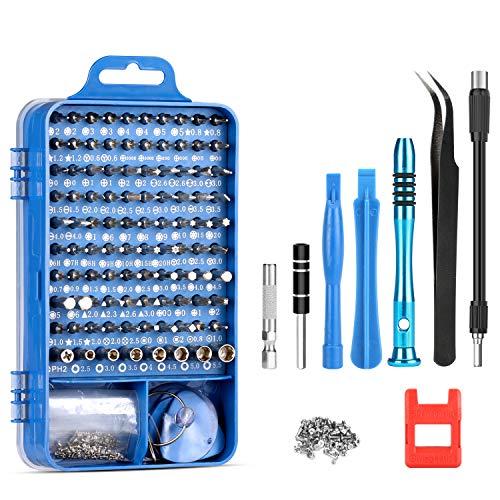 er Set 110 in 1 Magnetische Präzisions Profi-Schraubenzieher Elektronik Reparaturwerkzeug-Kit für iPhone iPad MacBook PC Smartphone Uhren Brillen(Geschenk: 100Smartphone-Schrauben) ()