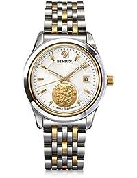 d8ea55752d98 binlun Mens oro tono impermeable automático relojes mejor regalo Zodiac  Reloj de…