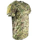 Kombat UK Herren-T-Shirt, Militär-Stil, mit kurzen Ärmeln Medium BTP (British Terrain Pattern)