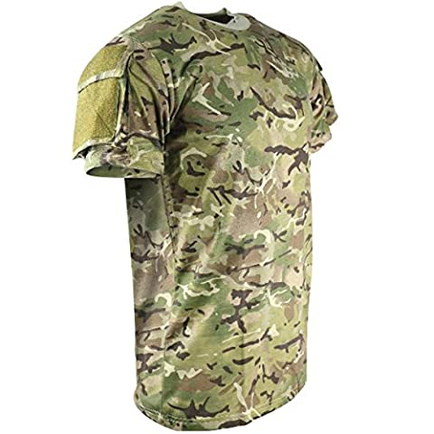Kombat UK Men's Tactical Short Sleeve T-Shirt, Btp (British Terrain Pattern), 2X-Large
