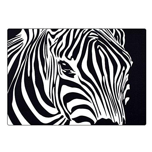 SENG Zebra Teppich Fringe Teppich Europäische Schlafzimmer Das Wohnzimmer Teppich Die Studie EIN rechteck Schwarz - weiß Größe (120 * 170CM/140 * 200CM) (größe : 140 * 200CM/55.1 * 78.7IN) Zebra Fringe