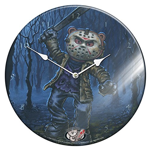 Dark Dreams Gothic edle Glas - Uhr Wanduhr Teddy Jason Horror Grusel Bär Neu Digitales (Kostüm Dreams Digital)