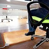 Monsterzeug Beheizbare Fußmatte mit Infrarot, Teppich als Fußbodenheizung für warme Füße, Heizteppich stufenlos regulierbar, Heizmatte pflegeleicht und Rutschfest, 105 x 55 cm