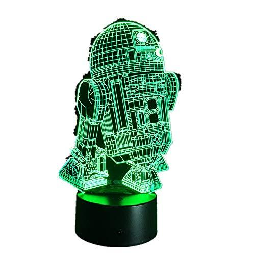 Wangzj lampada 3d / 7 colori che cambiano lampada datavolo/ luci notturne a led/luce led /Rd2d