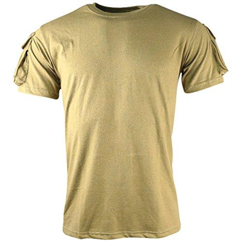 Kombat UK – T-Shirt à Manches Courtes pour Hommes XL Coyote