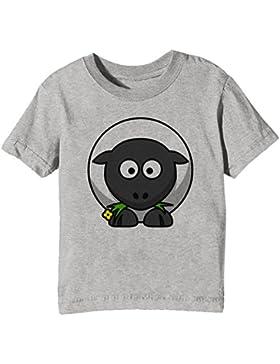 Oveja Niños Unisexo Niño Niña Camiseta Cuello Redondo Gris Manga Corta Todos Los Tamaños Kids Unisex Boys Girls...