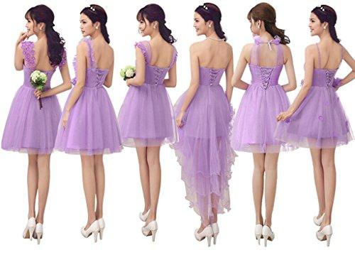 drasawee Femme Ligne A Voile de mariée Silber - purple f