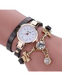 Vovotrade moda gran diamante de imitación de cuero de imitación de  diamantes analógico reloj de cuarzo e62ce6c8aa10