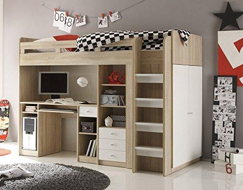 Etagenbett Mit Integriertem Schrank : ᑕ❶ᑐ hochbett mit schrank ▻ bestseller für ihr schlafparadies
