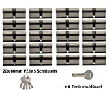 20x Zylinder Schlösser 60 mm 30