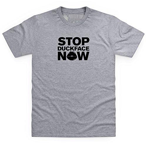 Stop DuckFace Now T-Shirt, Herren Grau Meliert