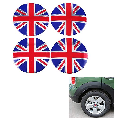 4 Pcs/Set Car Emblem Badge Sticker Wheel Hub Caps Centre Cover England British The