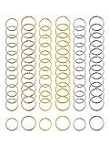 Hicarer 180 Pezzi Anelli di Capelli Treccia Anelli per Capelli Cerchi Loop Clip, 3 Colori, 2 Dimensioni