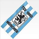 TSV 1860 München Velourstuch Stripes blau 76x152 Strandlaken Decke