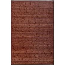 Alfombra de salón o comedor industrial marrón de bambú de 200 x 300 cm Factory
