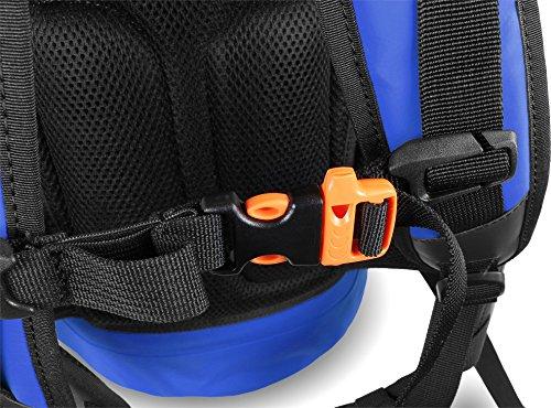 Rucksack Wasserdichter Trekking-Rucksack aus LKW-Plane, 40 Liter Blau