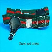 1 par de los hombres atractivos de las ligas del calcetín del apretón Pin Suspender Accesorios rayas rojas verdes