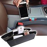 oT-Seggiolino da auto, colore: nero, tasca laterale, tasche a fessura Caddy-Contenitore portaoggetti, confezione da 2 (Black)