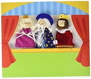 Goki 51592 - Teatro para Marioneta De Dedo III (Inc3 Muñecos) (+3 Años)