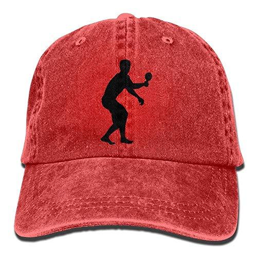 Bgejkos Ping Pong Cowboy Sports Hat Rear Cap Adjustable Cap ABCDE08875