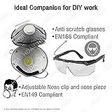 Seguridad Kit- 1–Máscara de ojos de protección & 1Nariz ligero y duradero para protección contra Pintura, polvo, DIY tareas