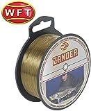 WFT Zielfisch Zander 0,25mm 5,8kg 500m braun - monofile Angelschnur zum Zanderangeln, Monofilschnur...