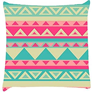 Snoogg Aztec pink Digitally Printed Cushion Cover throw pillows 12 x 12 Inch