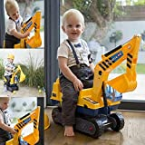 BARGAINSGALORE KIDS RIDE ON TOY DIGGER TODDLER PUSH ALONG GIFT FUN EXCAVATOR XMAS ROTATING NEW