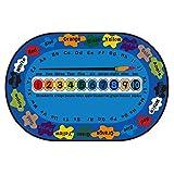 Tappeto Scuola Materna Interna Camera Tappeto Camera da Letto per Bambini Studio Angolo Lettura Alfabeto Digitale Tappeto per Bambini (Color : Blue, Size : 140 * 200cm)