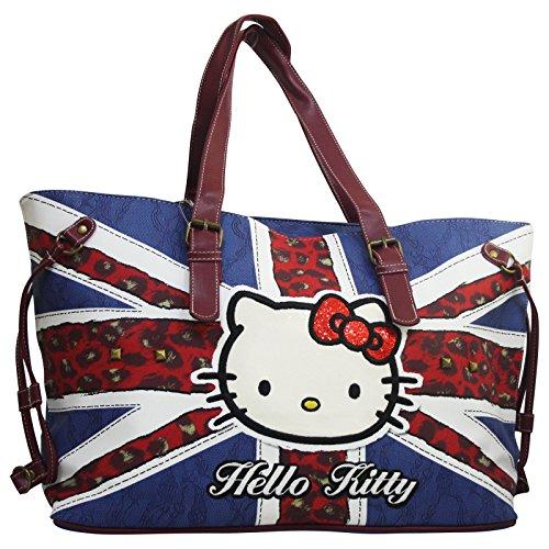 Hello Kitty England Flag Sac porté main pour Femme Sac à l'épaule
