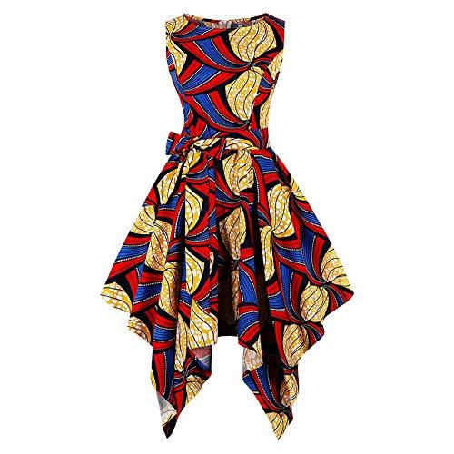 Kostüm Dance Strand - HWY Sommer 80er Jahre Kostüm Frauen Baumwolle Druck Maxi Kleid knielangen Rock Outfits für Strand Kostüm Dance Party täglichen Rock Zip Rock
