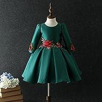 QTONGZHUANG Dünnes Kleid Herbst und Winter Chinesischen Stil Cheongsam Kleid dünnes Kleid Mädchen Winter Rock großer Junge
