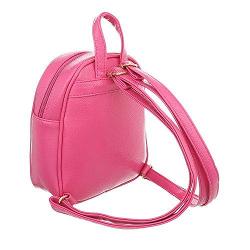 Borsa Donna Ital-design Molto Piccola Borsa Per Il Tempo Libero Zaino In Similpelle Ta-m1138 Rosa