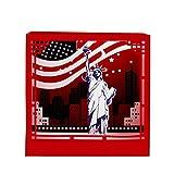JAGENIE Vatertagskarte, Muttertagskarte, 3D Pop-up-Karte, 3D-Grußkarte, Dank-Karte, Geburtstagskarte, Geburtstagskarte, Valentinstag Geschenkkarte,Schnitzen New York 10.5x10.5x7CM