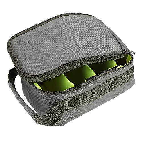 Alomejor Angeln Aufbewahrungskoffer Angelrolle Tasche Fliegen Karpfen Angelgerät für Angelhaken Linie Köder Lagerung