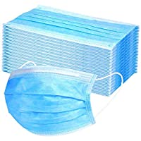 Disposable Face Mask 3Layers Air Pollution & Protection Mask, Nose Mask, Dust Mask, Surgical Mask With tie, 50 Pieces