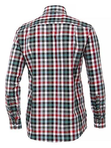 CASAMODA SPORTS Herren Businesshemd 100% Baumwolle - auch große Größen Comfort Fit Rot