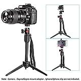Neewer 36 cm Mini Reise Kamera Tischstativ mit 360 Grad Kugelkopf für iPhone, Samsung, Huawei Smartphone, GoPro, DSLR Camera, 2,7 kg Tragkraft