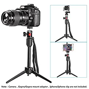 Neewer 36cm Mini Travel Tabletop Camera Tripod with 360 Degree Ball Head for Samsung,Huawei Smartphone,Gopro,DSLR Camera,Load up to 2.7 Kg