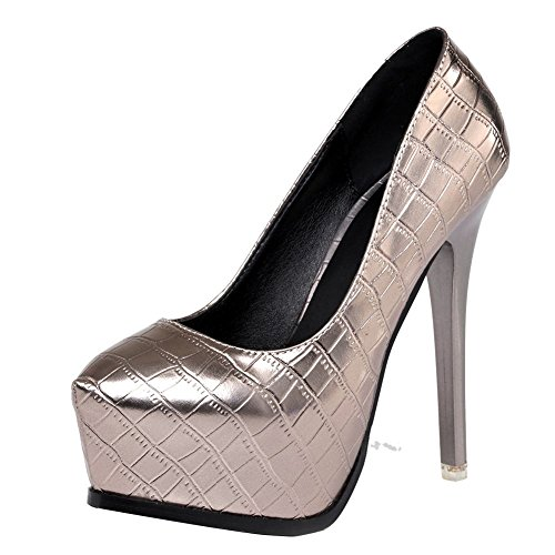 MissSaSa Donna Scarpe col Tacco Spillo Super High Heel Sexy Pumps Taupe