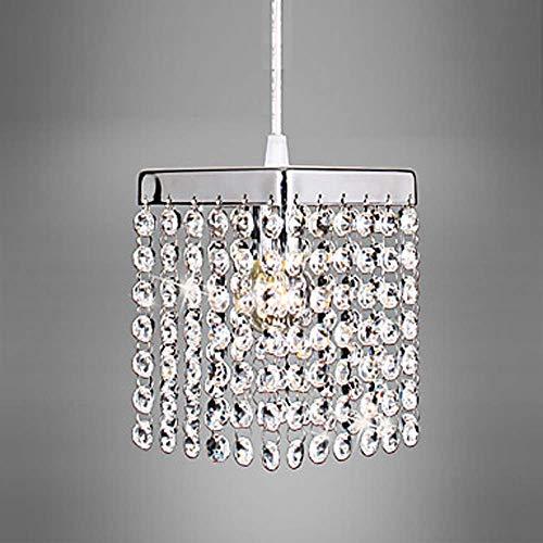 Mini-kronleuchter, 5-licht (YiCan Quadratischer Mini-Kronleuchter, Grünes Licht, Metallkristallanhänger, Mini-LED, 5 W, Seil Einstellbar Wert Es zu besitzen)