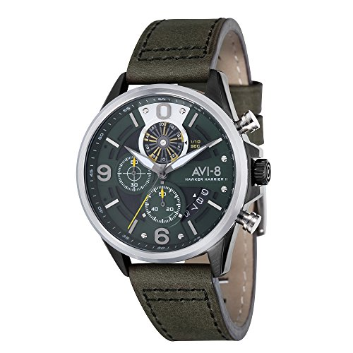 Montre Homme - AVI-8 - HAWKER HARRIER II - Cuir - 45mm - AV-4051-02